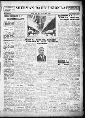 Primary view of object titled 'Sherman Daily Democrat (Sherman, Tex.), Vol. THIRTY-EITHTH YEAR, Ed. 1 Friday, March 28, 1919'.