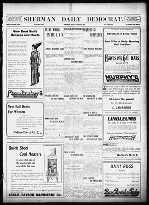 Primary view of object titled 'Sherman Daily Democrat (Sherman, Tex.), Vol. 32, Ed. 1 Tuesday, October 1, 1912'.