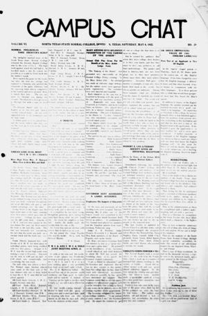Primary view of object titled 'Campus Chat (Denton, Tex.), Vol. 6, No. 29, Ed. 1 Saturday, May 6, 1922'.
