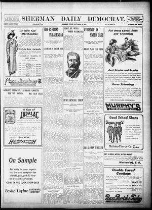 Primary view of object titled 'Sherman Daily Democrat (Sherman, Tex.), Vol. 32, Ed. 1 Tuesday, September 24, 1912'.