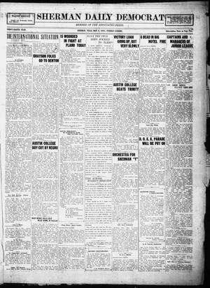 Primary view of object titled 'Sherman Daily Democrat (Sherman, Tex.), Vol. THIRTY-EITHTH YEAR, Ed. 1 Tuesday, May 6, 1919'.