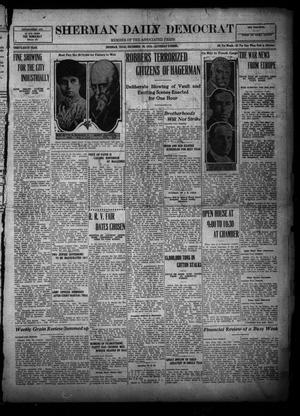 Primary view of object titled 'Sherman Daily Democrat (Sherman, Tex.), Vol. THIRTY-SIXTH YEAR, Ed. 1 Saturday, December 30, 1916'.