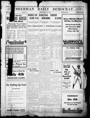 Primary view of object titled 'Sherman Daily Democrat (Sherman, Tex.), Vol. 31, Ed. 1 Wednesday, July 3, 1912'.