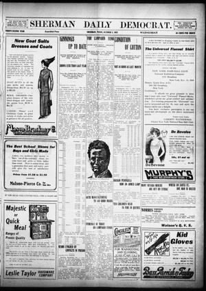 Primary view of object titled 'Sherman Daily Democrat (Sherman, Tex.), Vol. 32, Ed. 1 Wednesday, October 2, 1912'.