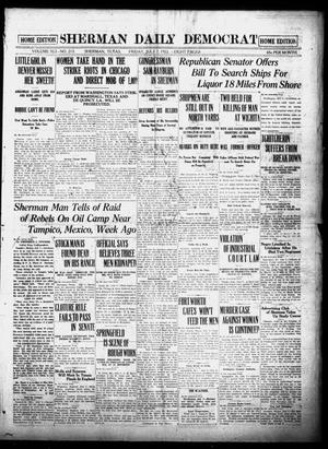 Primary view of object titled 'Sherman Daily Democrat (Sherman, Tex.), Vol. 41, No. 213, Ed. 1 Friday, July 7, 1922'.