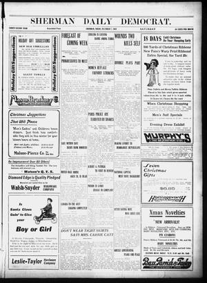 Primary view of object titled 'Sherman Daily Democrat (Sherman, Tex.), Vol. 32, Ed. 1 Saturday, December 7, 1912'.