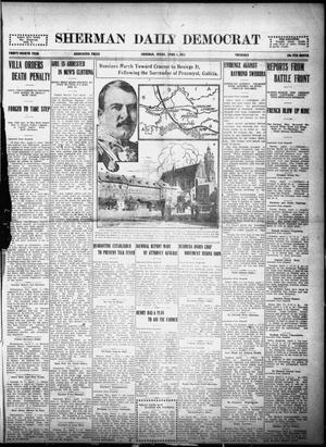 Primary view of object titled 'Sherman Daily Democrat (Sherman, Tex.), Vol. THIRTY-FOURTH YEAR, Ed. 1 Thursday, April 1, 1915'.