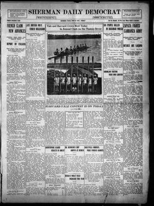 Primary view of object titled 'Sherman Daily Democrat (Sherman, Tex.), Vol. THIRTY-FOURTH YEAR, Ed. 1 Friday, June 25, 1915'.