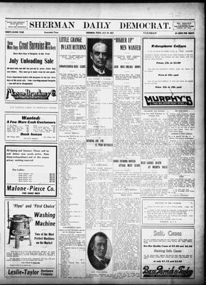 Primary view of object titled 'Sherman Daily Democrat (Sherman, Tex.), Vol. 32, Ed. 1 Tuesday, July 30, 1912'.