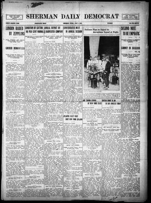 Primary view of object titled 'Sherman Daily Democrat (Sherman, Tex.), Vol. THIRTY-FOURTH YEAR, Ed. 1 Tuesday, June 1, 1915'.