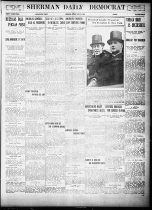 Primary view of object titled 'Sherman Daily Democrat (Sherman, Tex.), Vol. THIRTY-FOURTH YEAR, Ed. 1 Friday, May 28, 1915'.