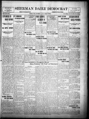 Primary view of object titled 'Sherman Daily Democrat (Sherman, Tex.), Vol. THIRTY-SIXTH YEAR, Ed. 1 Tuesday, September 12, 1916'.