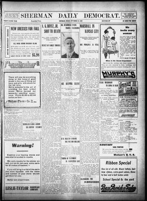 Primary view of object titled 'Sherman Daily Democrat (Sherman, Tex.), Vol. 32, Ed. 1 Monday, September 16, 1912'.