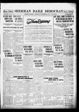 Primary view of object titled 'Sherman Daily Democrat (Sherman, Tex.), Vol. 41, No. 117, Ed. 1 Thursday, November 30, 1922'.