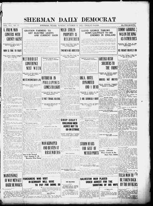 Primary view of object titled 'Sherman Daily Democrat (Sherman, Tex.), Vol. 41, No. 77, Ed. 1 Sunday, October 15, 1922'.