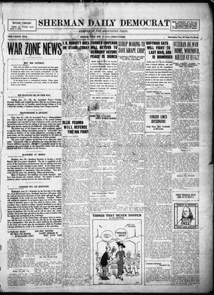 Primary view of object titled 'Sherman Daily Democrat (Sherman, Tex.), Vol. THIRTY-EITHTH YEAR, Ed. 1 Friday, June 27, 1919'.