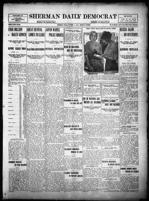 Primary view of object titled 'Sherman Daily Democrat (Sherman, Tex.), Vol. THIRTY-SIXTH YEAR, Ed. 1 Monday, October 2, 1916'.