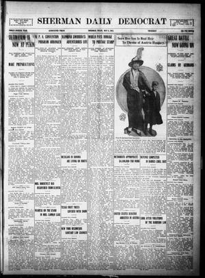 Primary view of object titled 'Sherman Daily Democrat (Sherman, Tex.), Vol. THIRTY-FOURTH YEAR, Ed. 1 Thursday, May 6, 1915'.
