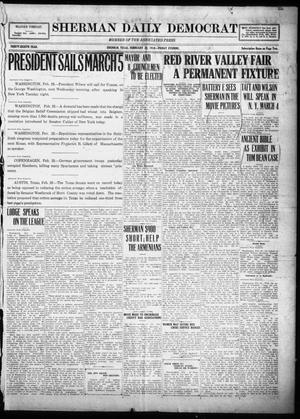 Primary view of object titled 'Sherman Daily Democrat (Sherman, Tex.), Vol. THIRTY-EITHTH YEAR, Ed. 1 Friday, February 28, 1919'.