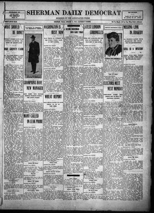 Primary view of object titled 'Sherman Daily Democrat (Sherman, Tex.), Vol. THIRTY-SIXTH YEAR, Ed. 1 Saturday, January 6, 1917'.