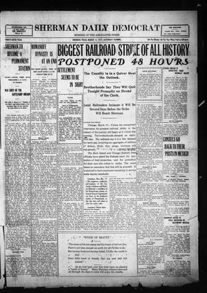 Primary view of object titled 'Sherman Daily Democrat (Sherman, Tex.), Vol. THIRTY-SIXTH YEAR, Ed. 1 Saturday, March 17, 1917'.