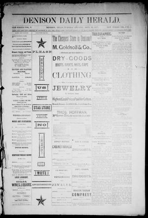 Primary view of Denison Daily Herald. (Denison, Tex.), Vol. 1, No. 7, Ed. 1 Tuesday, September 11, 1877