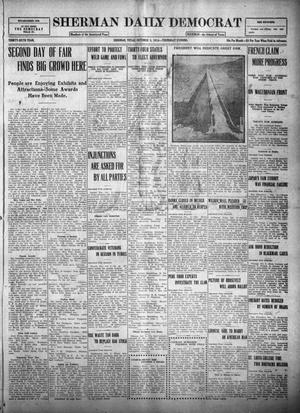 Primary view of object titled 'Sherman Daily Democrat (Sherman, Tex.), Vol. THIRTY-SIXTH YEAR, Ed. 1 Thursday, October 5, 1916'.