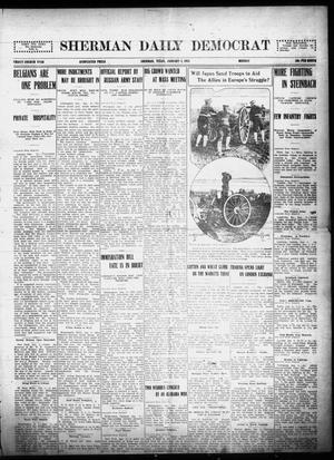 Primary view of object titled 'Sherman Daily Democrat (Sherman, Tex.), Vol. THIRTY-FOURTH YEAR, Ed. 1 Monday, January 4, 1915'.