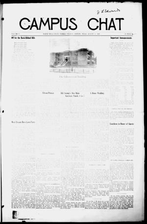Primary view of object titled 'Campus Chat (Denton, Tex.), Vol. 4, No. 42, Ed. 1 Friday, August 6, 1920'.