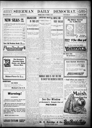 Primary view of object titled 'Sherman Daily Democrat (Sherman, Tex.), Vol. 32, Ed. 1 Thursday, September 19, 1912'.