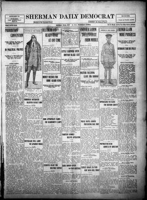 Primary view of object titled 'Sherman Daily Democrat (Sherman, Tex.), Vol. THIRTY-FIFTH YEAR, Ed. 1 Wednesday, July 19, 1916'.