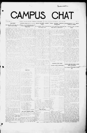 Primary view of object titled 'Campus Chat (Denton, Tex.), Vol. 6, No. 31, Ed. 1 Saturday, May 20, 1922'.