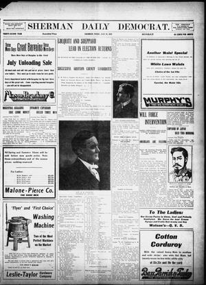 Primary view of object titled 'Sherman Daily Democrat (Sherman, Tex.), Vol. 32, Ed. 1 Monday, July 29, 1912'.