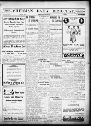 Primary view of object titled 'Sherman Daily Democrat (Sherman, Tex.), Vol. 31, Ed. 1 Friday, July 19, 1912'.