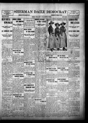 Primary view of object titled 'Sherman Daily Democrat (Sherman, Tex.), Vol. THIRTY-FIFTH YEAR, Ed. 1 Saturday, July 22, 1916'.