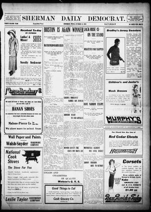 Primary view of object titled 'Sherman Daily Democrat (Sherman, Tex.), Vol. 32, Ed. 1 Saturday, October 12, 1912'.