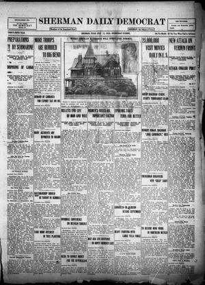 Primary view of object titled 'Sherman Daily Democrat (Sherman, Tex.), Vol. THIRTY-FIFTH YEAR, Ed. 1 Wednesday, July 12, 1916'.