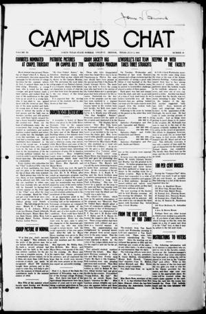 Primary view of object titled 'Campus Chat (Denton, Tex.), Vol. 3, No. 38, Ed. 1 Thursday, July 3, 1919'.