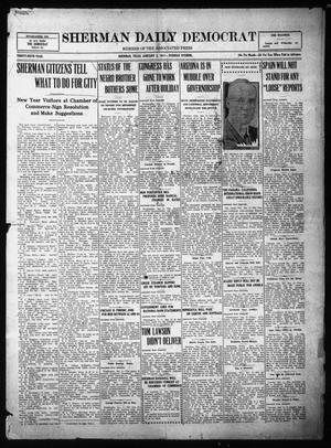 Primary view of object titled 'Sherman Daily Democrat (Sherman, Tex.), Vol. THIRTY-SIXTH YEAR, Ed. 1 Tuesday, January 2, 1917'.