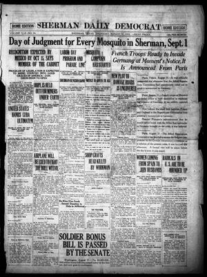 Primary view of object titled 'Sherman Daily Democrat (Sherman, Tex.), Vol. 42, No. 34, Ed. 1 Thursday, August 31, 1922'.