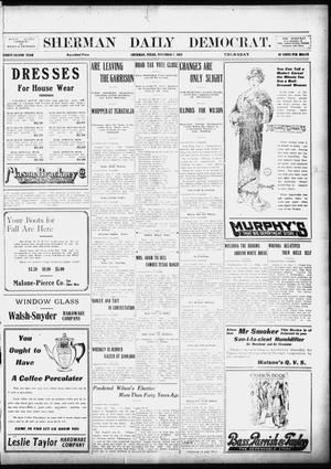 Primary view of object titled 'Sherman Daily Democrat (Sherman, Tex.), Vol. 32, Ed. 1 Thursday, November 7, 1912'.