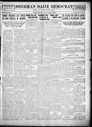 Primary view of object titled 'Sherman Daily Democrat (Sherman, Tex.), Vol. THIRTY-EITHTH YEAR, Ed. 1 Saturday, April 26, 1919'.