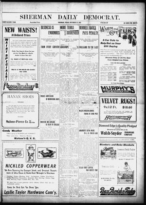 Primary view of object titled 'Sherman Daily Democrat (Sherman, Tex.), Vol. 32, Ed. 1 Tuesday, October 29, 1912'.