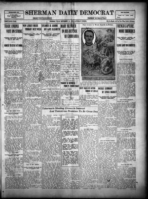 Primary view of object titled 'Sherman Daily Democrat (Sherman, Tex.), Vol. THIRTY-SIXTH YEAR, Ed. 1 Saturday, September 23, 1916'.