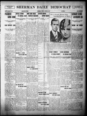 Primary view of object titled 'Sherman Daily Democrat (Sherman, Tex.), Vol. THIRTY-FOURTH YEAR, Ed. 1 Saturday, January 9, 1915'.