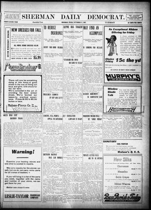 Primary view of object titled 'Sherman Daily Democrat (Sherman, Tex.), Vol. 32, Ed. 1 Tuesday, September 17, 1912'.