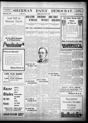Primary view of object titled 'Sherman Daily Democrat (Sherman, Tex.), Vol. 32, Ed. 1 Saturday, August 17, 1912'.