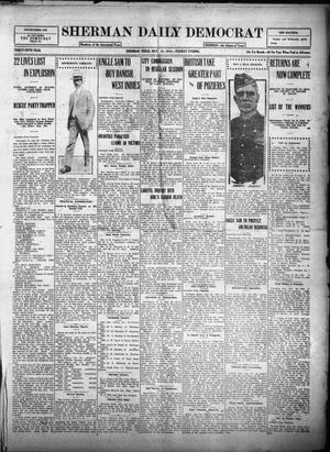 Primary view of object titled 'Sherman Daily Democrat (Sherman, Tex.), Vol. THIRTY-FIFTH YEAR, Ed. 1 Tuesday, July 25, 1916'.