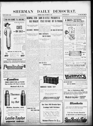 Primary view of object titled 'Sherman Daily Democrat (Sherman, Tex.), Vol. 32, Ed. 1 Thursday, December 19, 1912'.