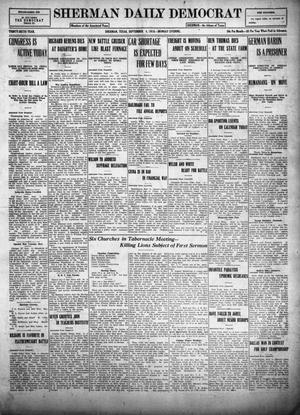 Primary view of object titled 'Sherman Daily Democrat (Sherman, Tex.), Vol. THIRTY-SIXTH YEAR, Ed. 1 Monday, September 4, 1916'.